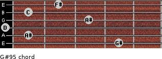 G#9(-5) for guitar on frets 4, 1, 0, 3, 1, 2