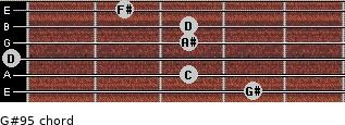 G#9(-5) for guitar on frets 4, 3, 0, 3, 3, 2
