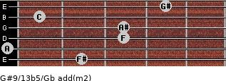 G#9/13b5/Gb add(m2) guitar chord