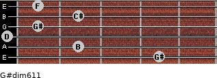 G#dim6/11 for guitar on frets 4, 2, 0, 1, 2, 1