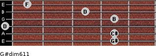 G#dim6/11 for guitar on frets 4, 4, 0, 4, 3, 1