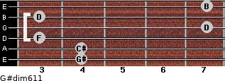 G#dim6/11 for guitar on frets 4, 4, 3, 7, 3, 7