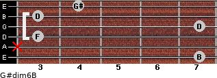 G#dim6/B for guitar on frets 7, x, 3, 7, 3, 4