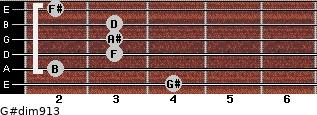 G#dim9/13 for guitar on frets 4, 2, 3, 3, 3, 2