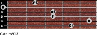 G#dim9/13 for guitar on frets 4, 5, 3, 3, 0, 2
