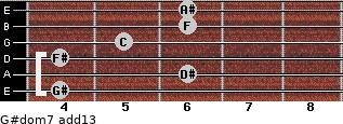 G#dom7(add13) for guitar on frets 4, 6, 4, 5, 6, 6