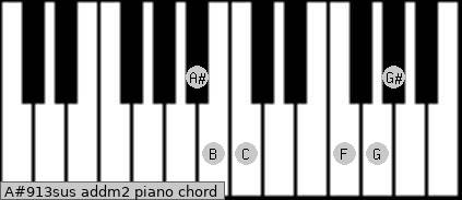 A#9/13sus add(m2) piano chord