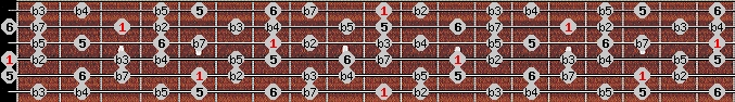 diminished (halftone - wholetone) scale on key D for Guitar
