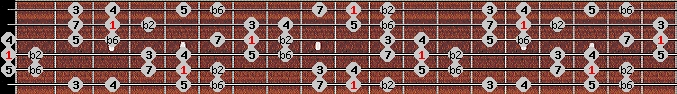 double harmonic scale on key D for Guitar