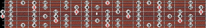 eight tone spanish scale on key D for Guitar