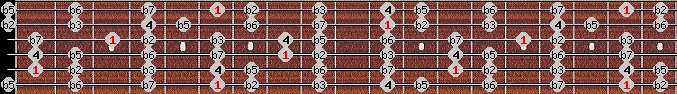 locrian scale on key A#/Bb for Guitar