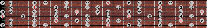 locrian 2 scale on key D for Guitar