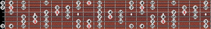 persian scale on key C for Guitar